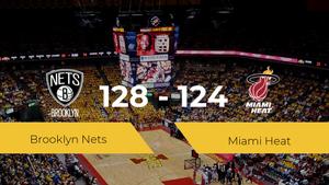 Brooklyn Nets se hace con la victoria contra Miami Heat por 128-124