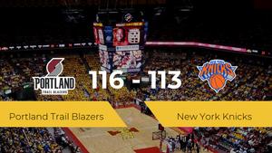 Portland Trail Blazers logra la victoria frente a New York Knicks por 116-113