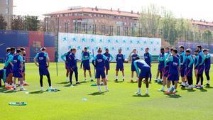 Así ha sido el entrenamiento del Barça antes del partido ante el Levante