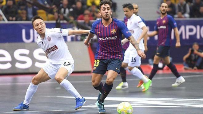 Joselito, en 2019 en las semifinales de la Champions ante el Kairat