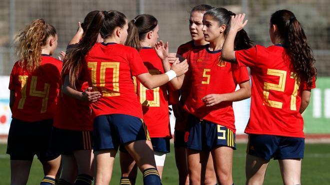 Las jugadoras de España Sub-19 en una imagen de archivo