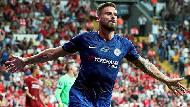 Giroud adelantó al Chelsea tras una gran jugada del equipo