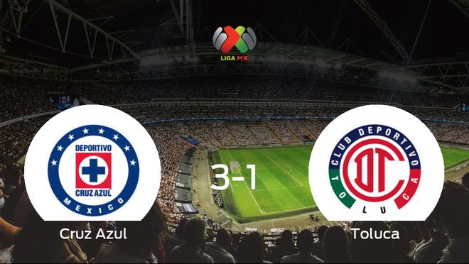 El Cruz Azul elimina al Toluca en cuartos de final tras ganar 3-1