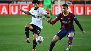 El tremendo error defensivo de Lenglet (otra vez) que le costó el primer gol al Barça ante el Valencia