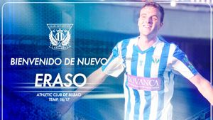 Eraso regresa a Butarque tras su etapa en el Athletic