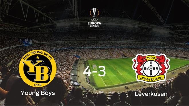 El Young Boys se pone por delante en la primera eliminatoria de dieciseisavos de final tras ganar 4-3 contra el Bayer Leverkusen