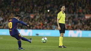 LALIGA   FC Barcelona - Leganés (3-1): Messi volvió a anotar con un gra ndisparo de falta