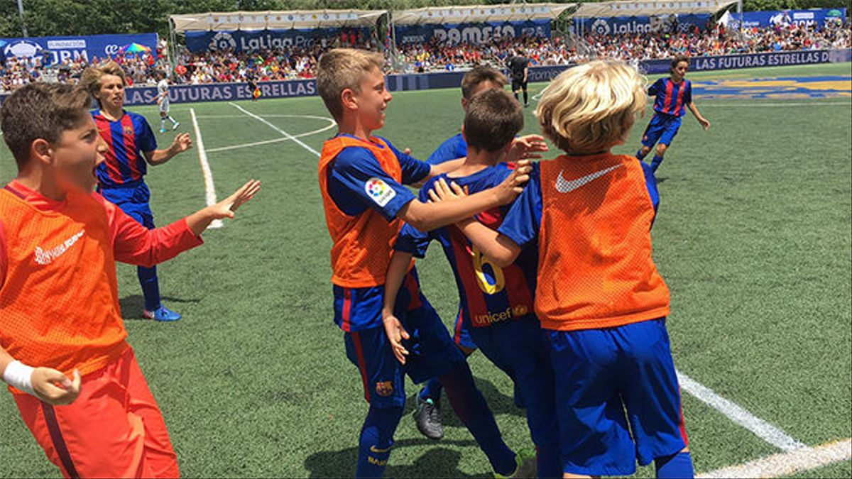 Iker Bravo dio la victoria al Barça en el III Torneo Internacional LaLiga Promises (3-2)