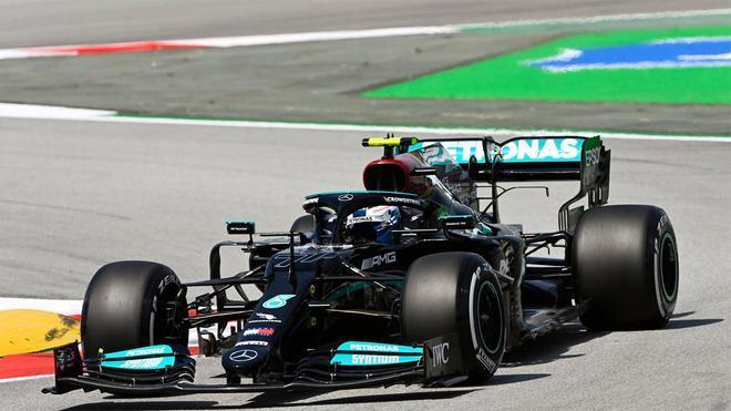 Bottas, en acción en el Circuit de Barcelona