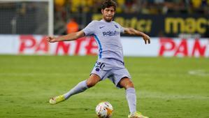 Sergi Roberto, en el partido ante el Cádiz