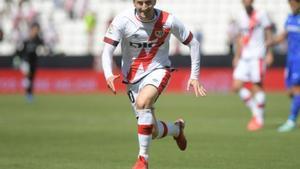 Ivan Balliu durante el partido entre Rayo Vallecano y Getafe