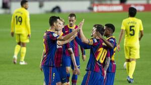 Ansu Fati lidera a un Barça arrollador en su estreno en liga ante el Villarreal