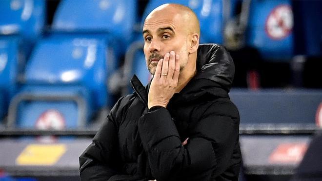 Guardiola durante la vuelta de las semifinales de la Champions contra el PSG