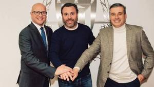 Sergio González, junto a Matthieu Fenaert y Miguel Ángel Gómez