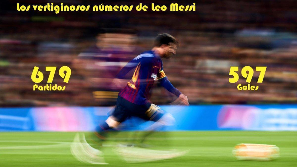 Leo Messi en acción durante el Barça-Manchester United de la Champions 2018/19