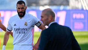 Benzema no estará en la ida contra el Atalanta