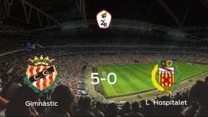 El Gimnàstic Tarragona consigue los tres puntos en casa tras pasar por encima del LHospitalet (5-0)