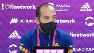 Cortés atendió a los medios tras el Atlético - Barça