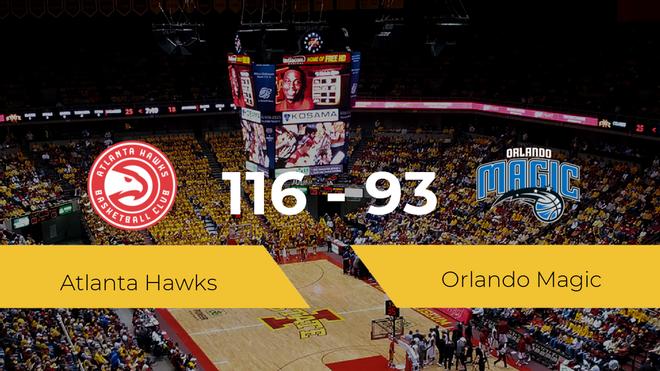 Atlanta Hawks gana a Orlando Magic (116-93)