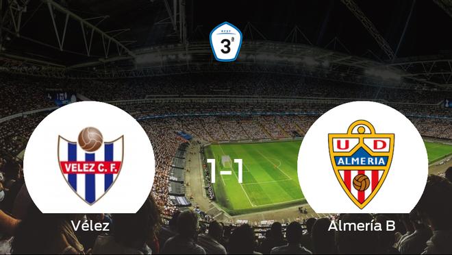 El Almería B logra un empate frente al Vélez (1-1)