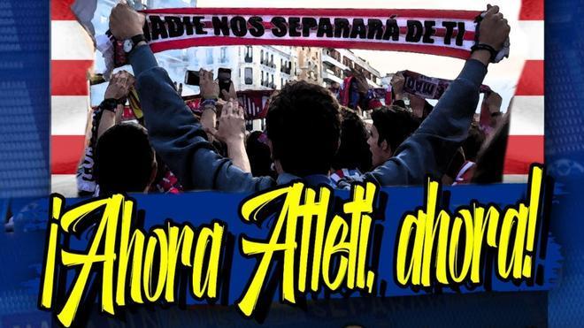 La afición del Atlético se moviliza para apoyar a su equipo
