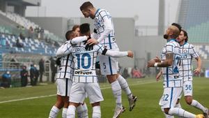 los jugadores del Inter en una imagen de archivo.