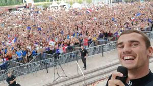 Griezmann celebró el Mundial en Macon
