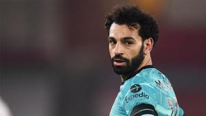 Salah, durante un partido esta temporada.