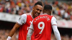 Lacazette y Aubameyang, la pareja de delanteros del Arsenal FC