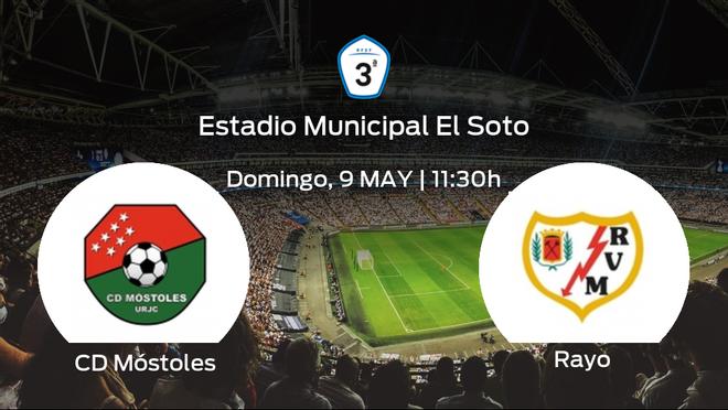 Jornada 6 de la Segunda Fase de Tercera División: previa del duelo CD Móstoles - Rayo B