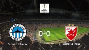 El Slovan Liberec y el Estrella Roja de Belgrado concluyen su enfrentamiento en el U Nisy sin goles (0-0)
