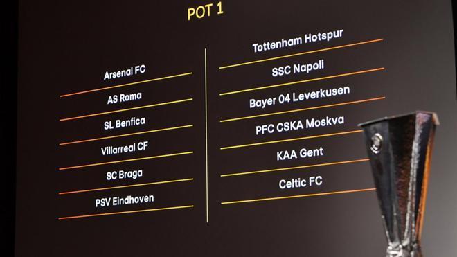 Suiza ha albergado el sorteo de la Europa League