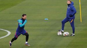 Koeman: Messi es el mejor y si no está, siempre falta algo