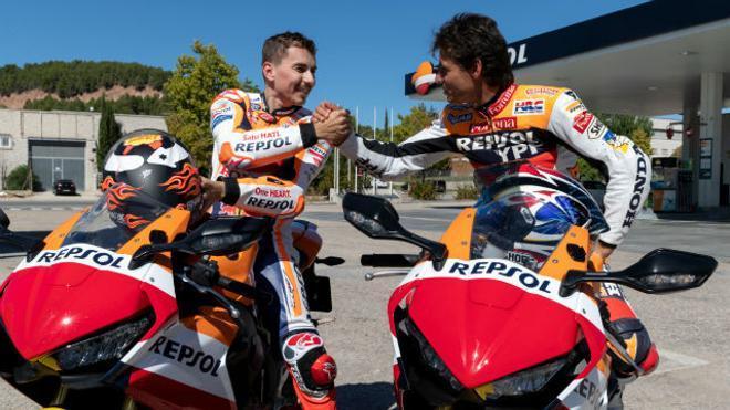 Jorge Lorenzo y Álex Crivillé, de campeón a campeón