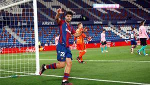 El gol de Melero que inició la remontada del Levante ante el Barça