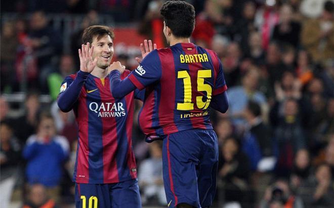 Marc Bartra, el último defensa del FC Barcelona en firmar un gol de cabeza y a balón parado