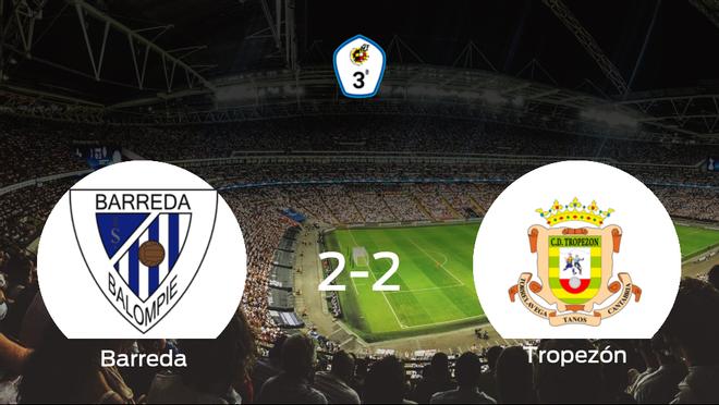 El Tropezón consigue un empate a dos frente al Barreda Balompié