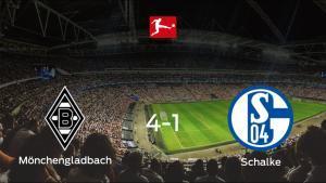Los tres puntos se quedan en casa: goleada del Borussia Mönchengladbach al Schalke 04 (4-1)