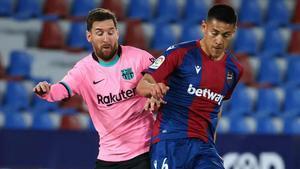 Leo Messi, durante el partido contra el Levante