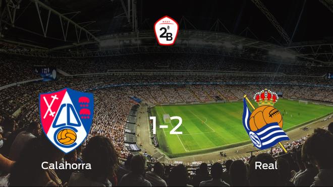 La Real Sociedad B vence 1-2 al Calahorra y se lleva los tres puntos