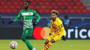 Konrad de la Fuente vuelve al Barça B tras jugar frente al Ferencvaros