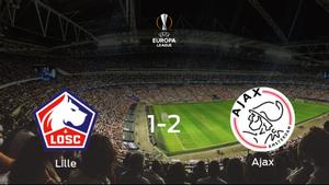 Victoria 1-2 del Ajax frente al Lille OSC en el partido de ida de dieciseisavos de final