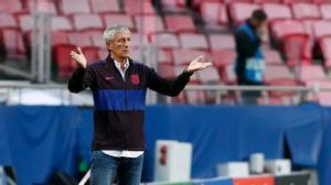 Quique Setién fue entrenador del Barcelona