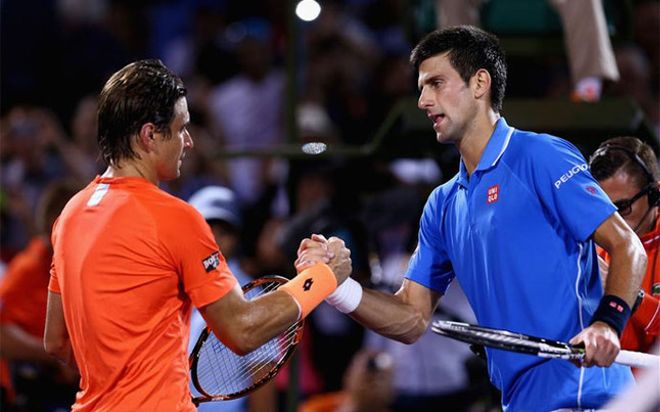 Djokovic volvió a cruzarse en el camino de David Ferrer