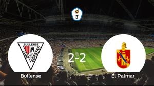 El CD Bullense y El Palmar se reparten los puntos tras su empate a dos