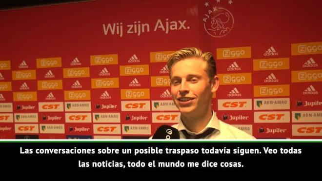 Frenkie de Jong habla sobre los rumores del Barcelona