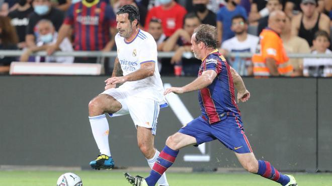 Luis Figo disputó el Barça-Madrid legens en Tel Aviv