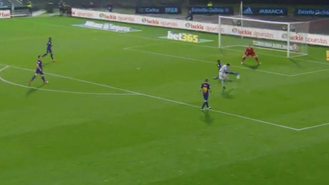 LALIGA   Celta - FC Barcelona (2-2): El decisivo corte de Yerry Mina