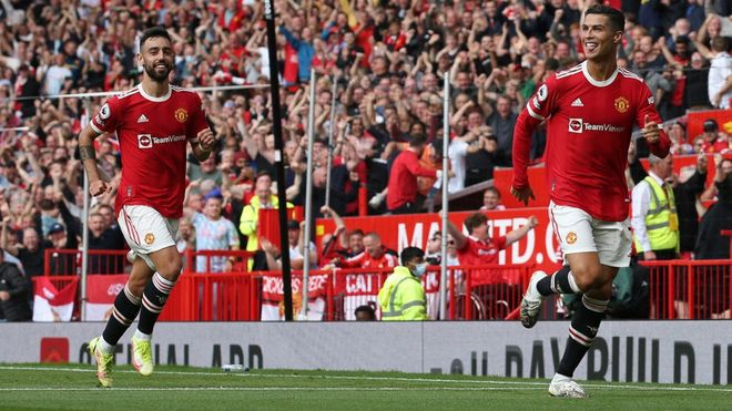 Cristiano se estrenó con el United