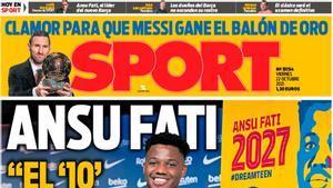 Esta es la portada de Sport